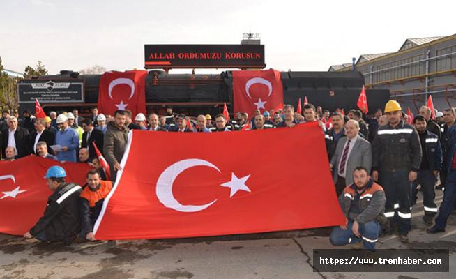 TÜDEMSAŞ çalışanları Zeytin Dalı Harekatı'na dualarla destek verdiler