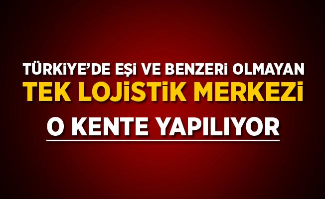 Türkiye'de eşi benzeri olmayan tek lojistik merkezi