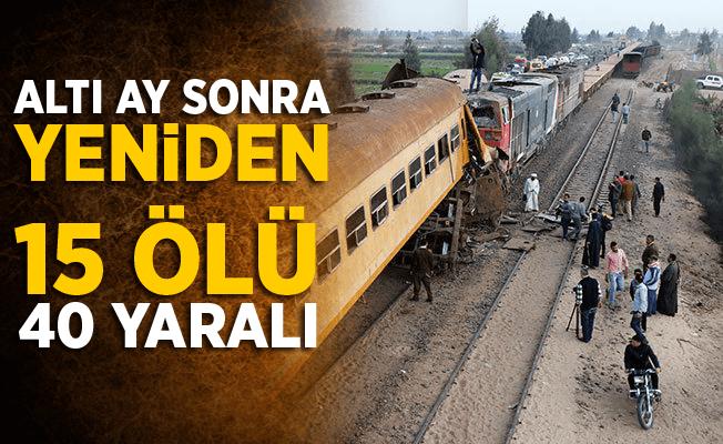 Altı ay sonra yeniden Mısır'da trenler çarpıştı! 15 ölü 40 yaralı