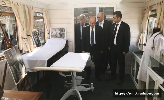 TCDD Genel Müdürü Apaydın, Doktor Vagonu'nu ziyaret etti