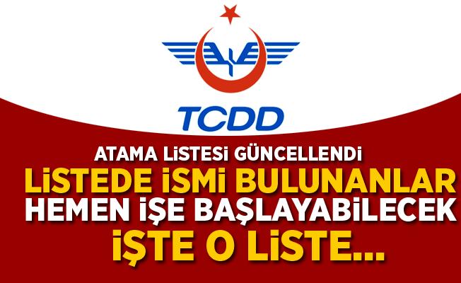TCDD Atama Sonuçları Güncellendi! 14 Mart 2018