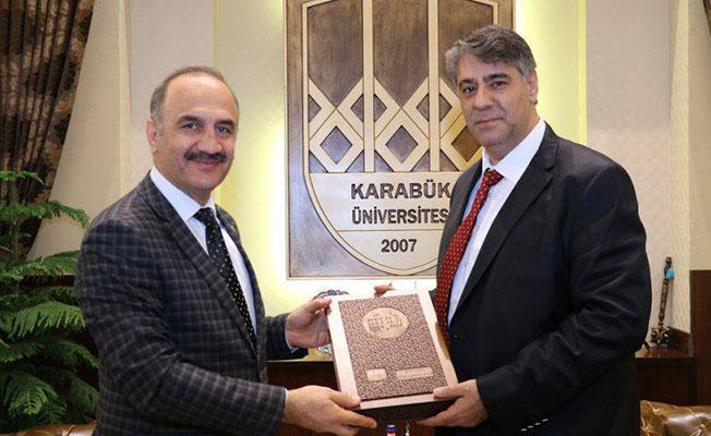 TÜDEMSAŞ Genel Müdür Vekili Bayrakçıl'dan Rektör Polat'a Ziyaret