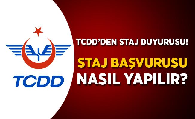 TCDD'den Staj Duyurusu