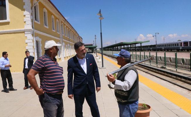 Cankesen, Afyon'daki TCDD İş yerlerini Ziyaret Etti