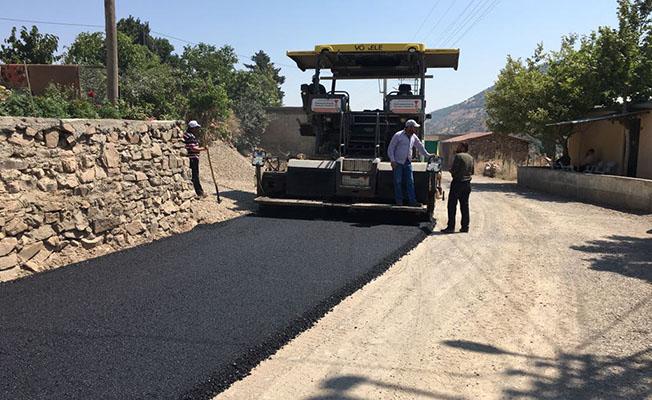 Dereler yolu asfaltlandı
