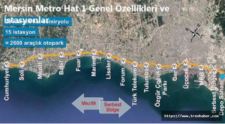mersin metro projesi haritası güzergahı ve istasyonları