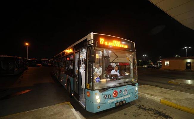 Mersin'de Belediye Otobüslerinin Gece Seferleri