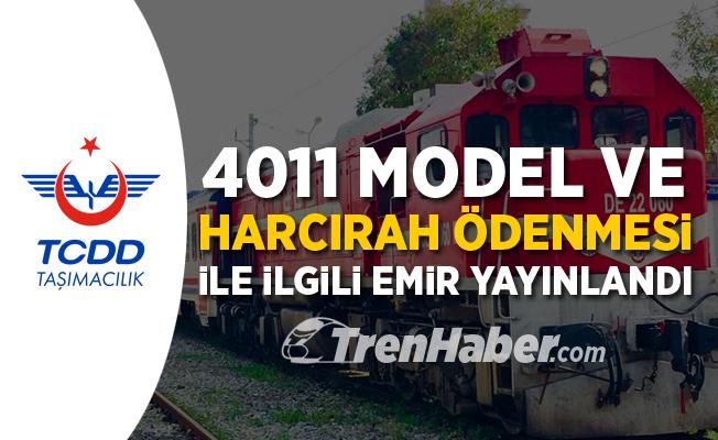 Tren personeline 4011 ve harcırah düzenlemesi