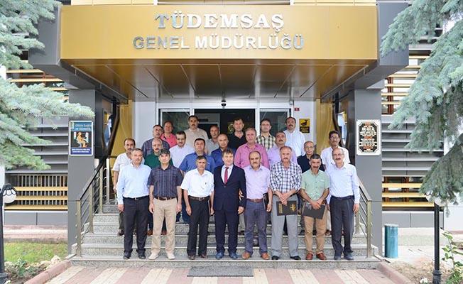 TÜDEMSAŞ'ta emekli olan personel için tören düzenlendi