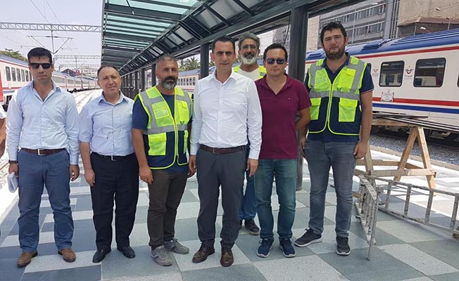 Bölge Müdürü Koçbay Peron Çalışmalarını İnceledi