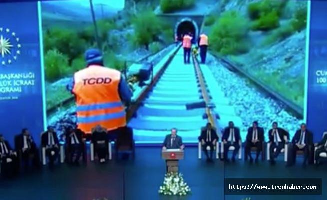 Cumhurbaşkanı Erdoğan TCDD Projelerini Açıkladı