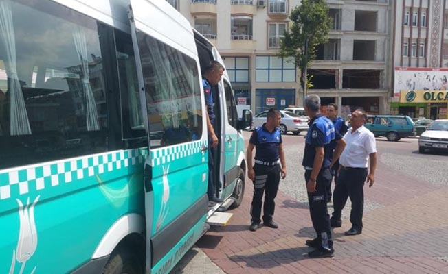 Demirci'de Toplu Ulaşım Araçları Denetlendi