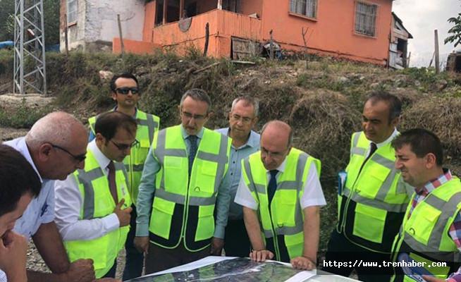 Apaydın, Samsun-Sivas Demiryolu Hattındaki Çalışmaları İnceledi