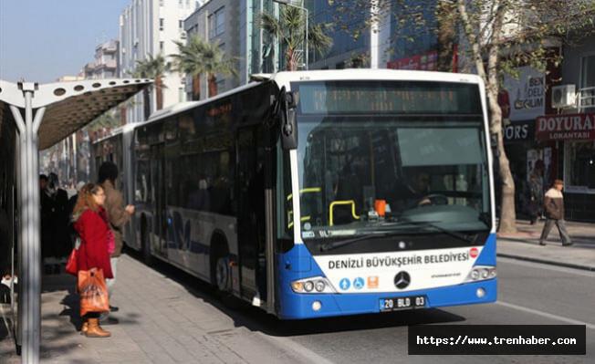Denizli'de belediye otobüs saatlerinde değişiklik