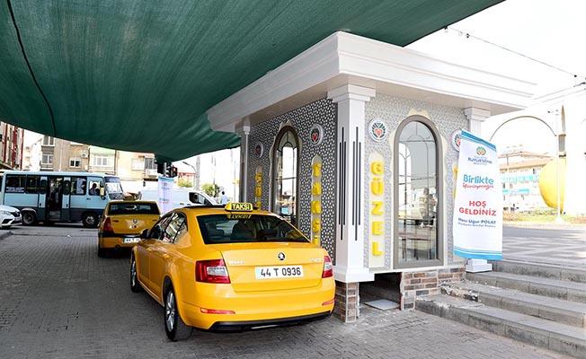 Malatya'da Taksici Esnafına Modern Taksi Durakları