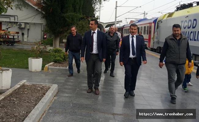 Bölge Müdürü Koçbay, Balıkesir Gar'da İncelemelerde Bulundu