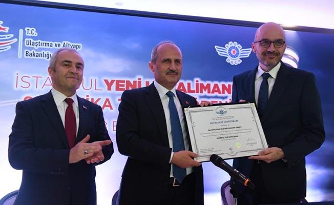 İstanbul Havalimanı İşletme Sertifikasını Aldı