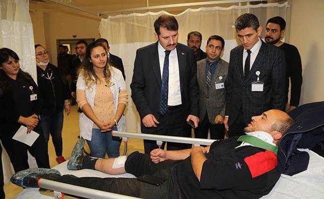 Sivas'taki Tren Kazası Yaralılarına Ziyaret