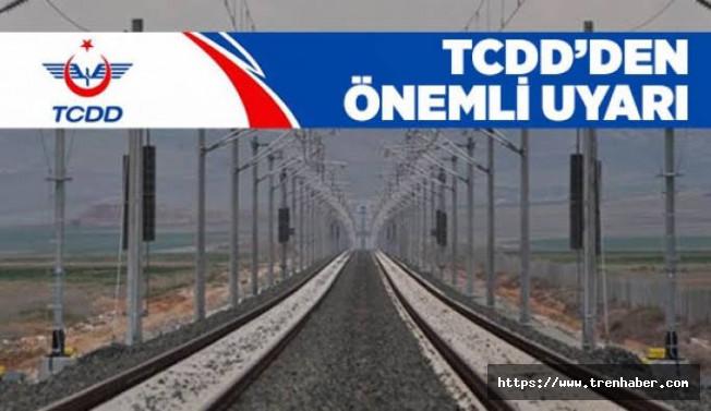 TCDD'den Adana ve Mersin İçin Önemli Uyarı