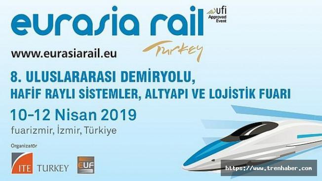 Eurasia Rail 10-12 Nisan 2019'da Fuarizmir'de