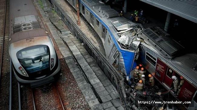 Brezilya'da Trenler Çarpıştı! 1 Ölü 8 Yaralı