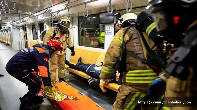 Üsküdar-Çekmeköy Metro Hattında Yangın Tatbikatı Gerçekleştirildi