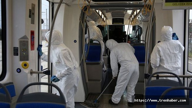 Akçaray Tramvay Setleri Titizlikle Temizleniyor