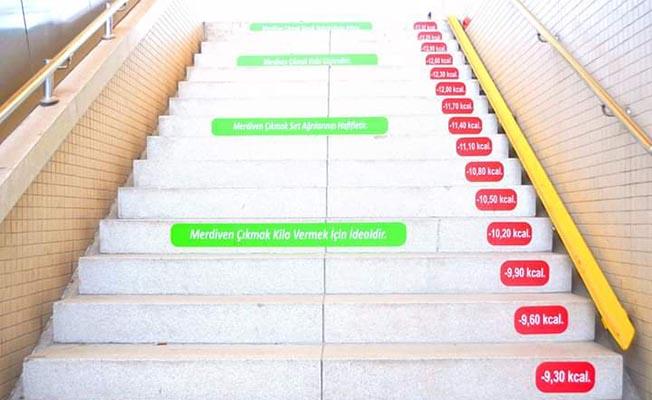 Metro Merdivenlerine Kalori Hesabı