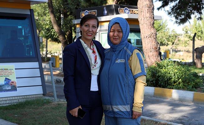 İSPARK'ın ilk kadın çalışanı işbaşı yaptı