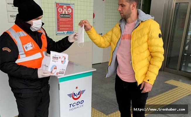 TCDD'den Ücretsiz Maske Dağıtımı