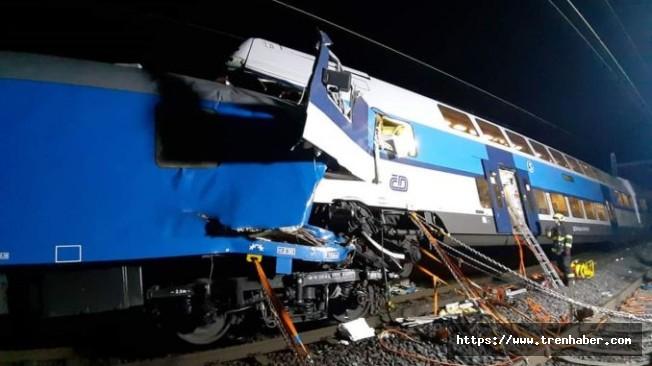 Çekya'da trenler çarpıştı: 1 ölü, 35 yaralı
