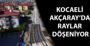 Kocaeli'nde Akçaray'da Çift Yönlü 200 mt Ray Döşendi