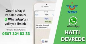 TCDD WhatsApp Hattı Devrede