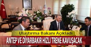 Mersin Adana hızlı treni Gaziantep ve Diyarbakır'a kadar uzayacak