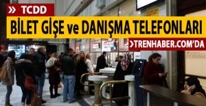 TCDD'de Bilet Satışı Yapılan İstasyon ve Gişelerin Telefon Numaraları