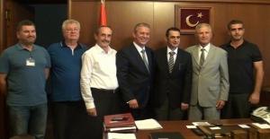 Balkan Derneklerinden Selim Koçbay'a Hayırlı Olsun Ziyareti