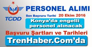 TCDD Konya'da 2 Engelli İşçi Alımı Yapacak