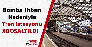 Bomba ihbarı nedeniyle tren istasyonu boşaltıldı !