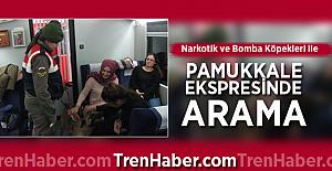 Narkotik ve Bomba köpekleri ile Pamukkale Ekspresinde Arama