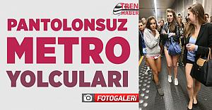 Pantolonsuz metro yolculuğundan ilginç kareler