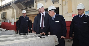 Vali Gül'den Sivas Beton Travers Fabrikasına Ziyaret