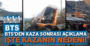 BTS'den Adana'da meydana gelen kaza sonrası açıklama
