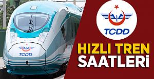 Yüksek Hızlı Tren Saatleri ! 2019