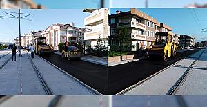 Kocaeli'de Akçaray'ın geçtiği yollar asfaltlanıyor