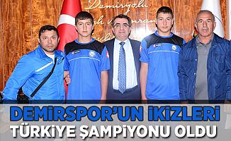 Demirspor'lu İkizler Türkiye Şampiyonu Oldu