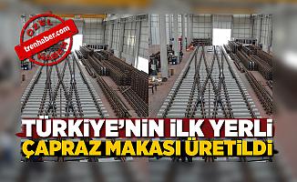 Dizayn Demiryolu Türkiye'nin ilk yerli çapraz makasını üretti