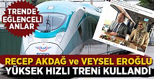 Bakanlar Eroğlu ve Akdağ Yüksek Hızlı Treni Kullandı