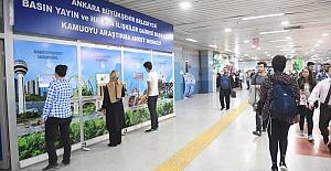 Kızılay Metro İstasyonu'nda Engelliler Haftasına Özel Anket