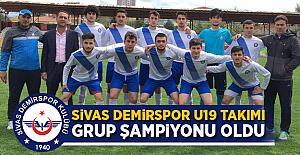 Sivas Demirspor U19 Takımı Grup Şampiyonu Oldu