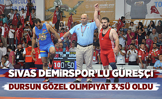 Sivas Demirspor'lu Güreşçi Dursun Gözel Olimpiyat 3.'sü oldu